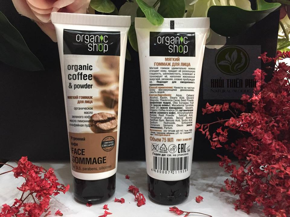 Kem tẩy da chết cho mặt Organic shop