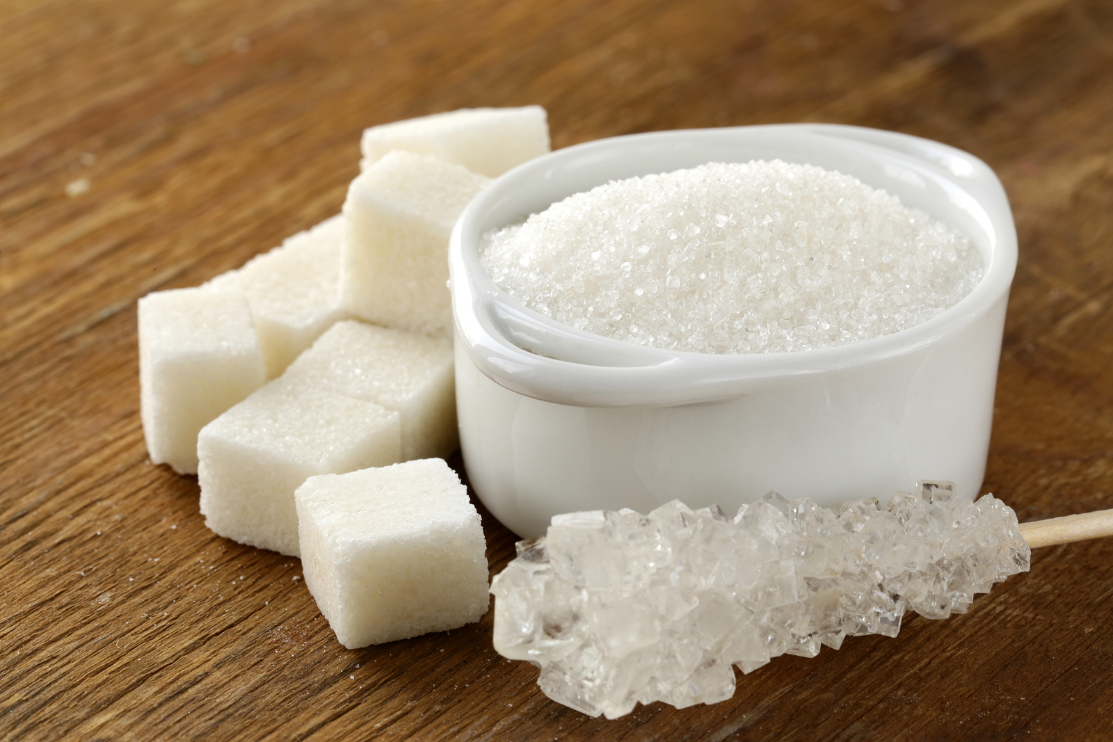 Several types of white sugar - refined sugar and granulated sugar ** Note: Shallow depth of field
