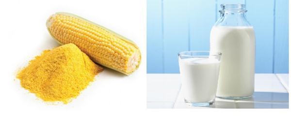 Bột ngô + sữa tươi giúp da sáng hơn trong 3 ngày
