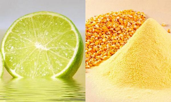 Mặt nạ dưỡng da từ bột ngô + nước cốt chanh