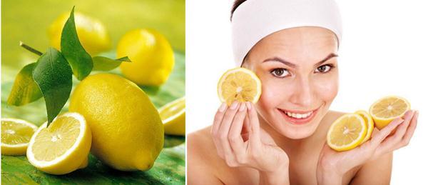 Rửa sạch làn da với nước chanh