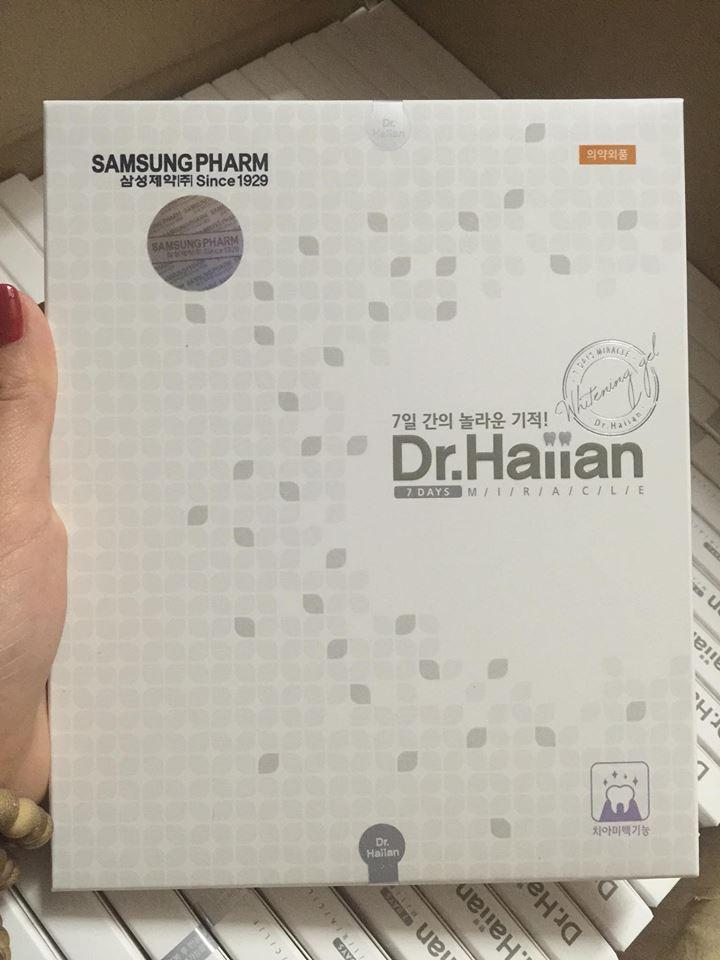 Gel làm trắng răng Dr Haiian Professional Clinic Program