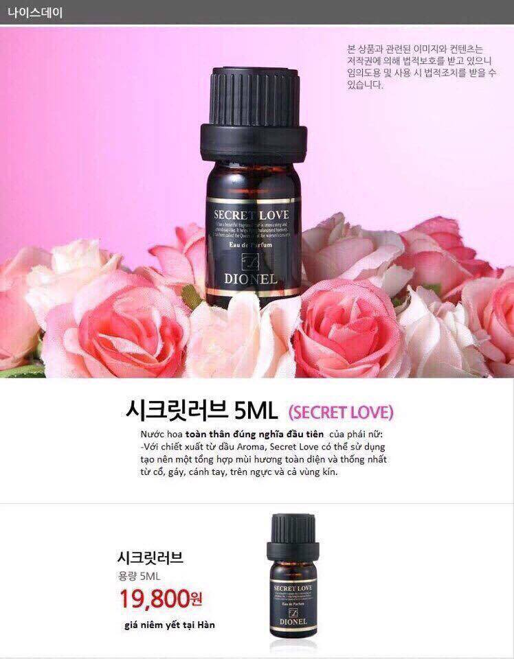Nước hoa vùng kín Dionel secret love