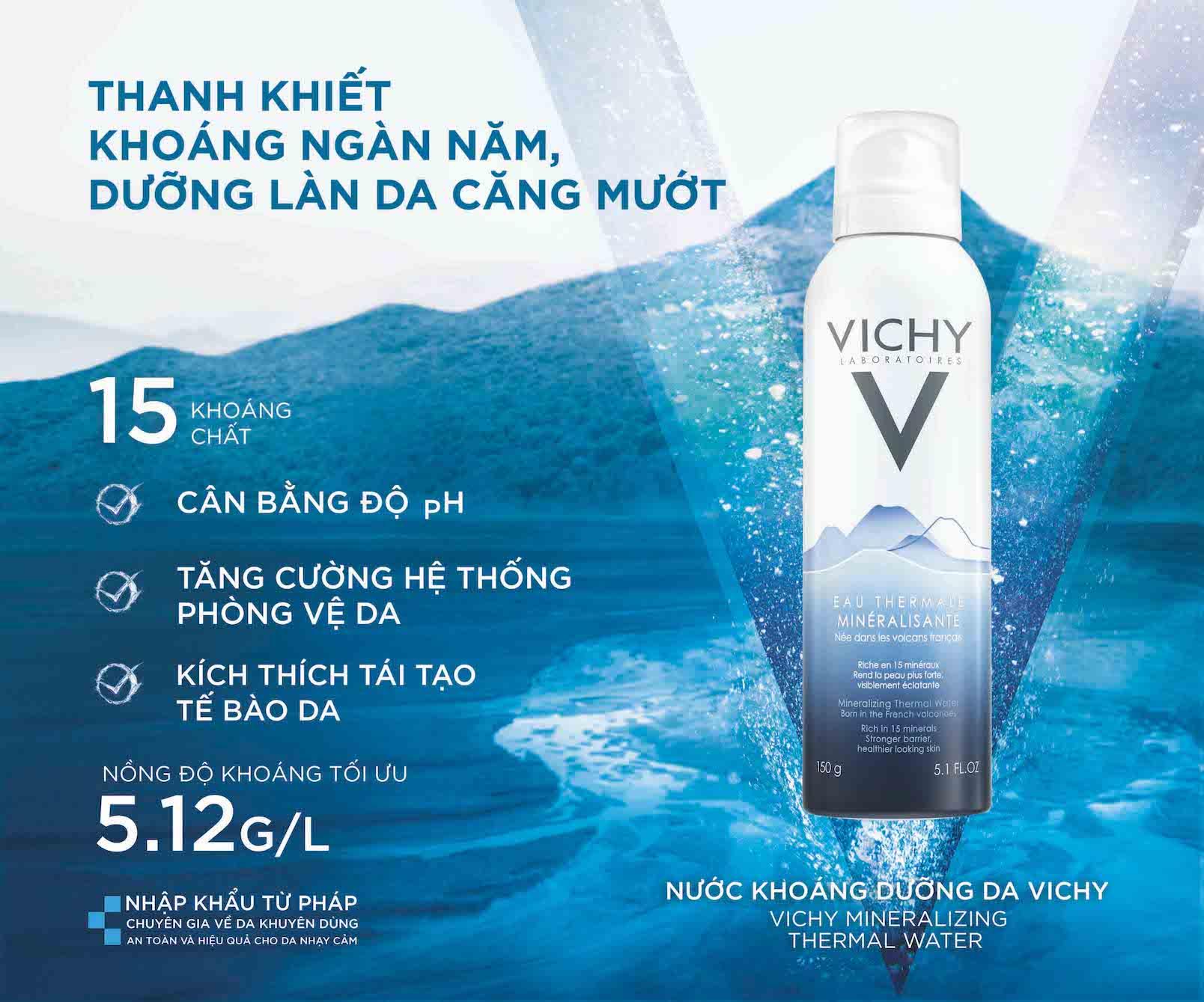Xịt khoáng Vichy - 300ml