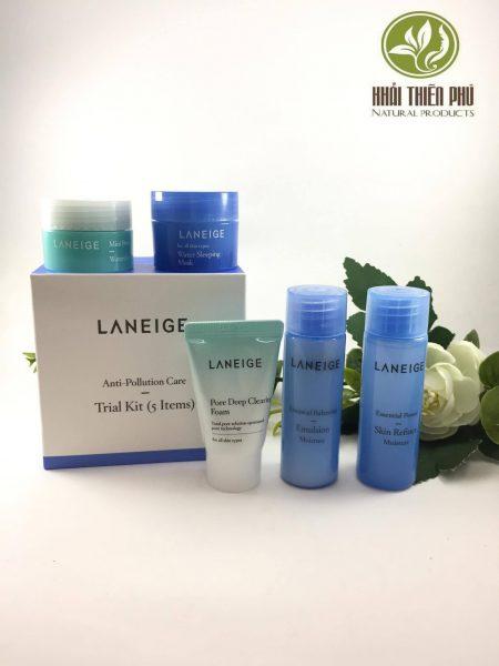 Set 5 sản phẩm dưỡng da Laneige mini