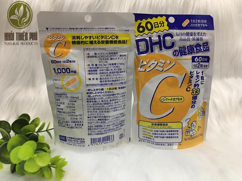 Viên uống DHC bổ sung Vitamin C 120 viên