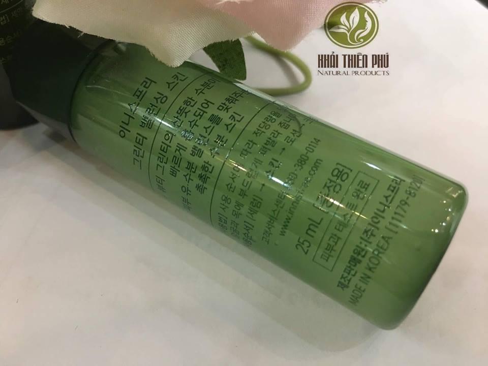 Bộ Dưỡng Da Mi-Ni Innisfree Trà Xanh Green Tea