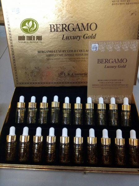 Tinh chất dưỡng trắng da serum Bergamo Luxury vàng 24k
