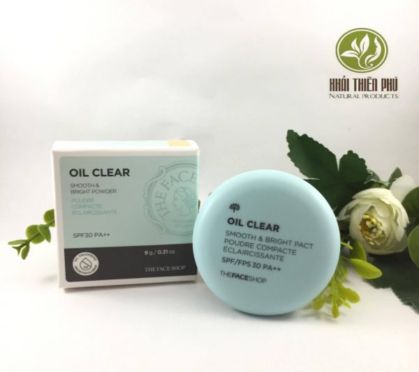Phấn phủ kiềm dầu The Face Shop Oil Clear Smooth & Bright Pact SPF30 PA++