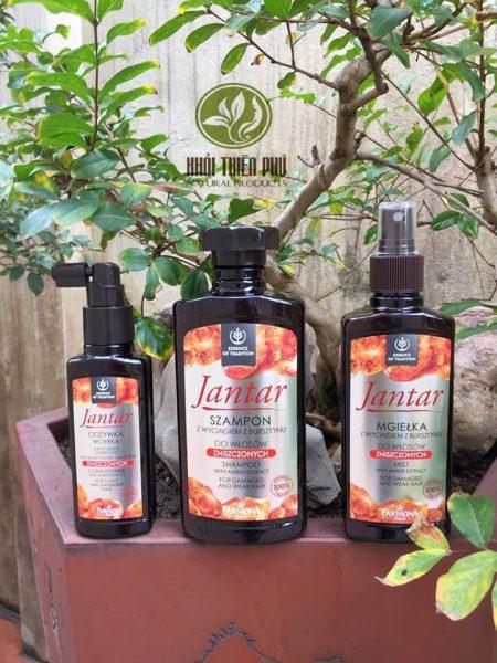 Set dầu gội và dưỡng mọc tóc Jantar
