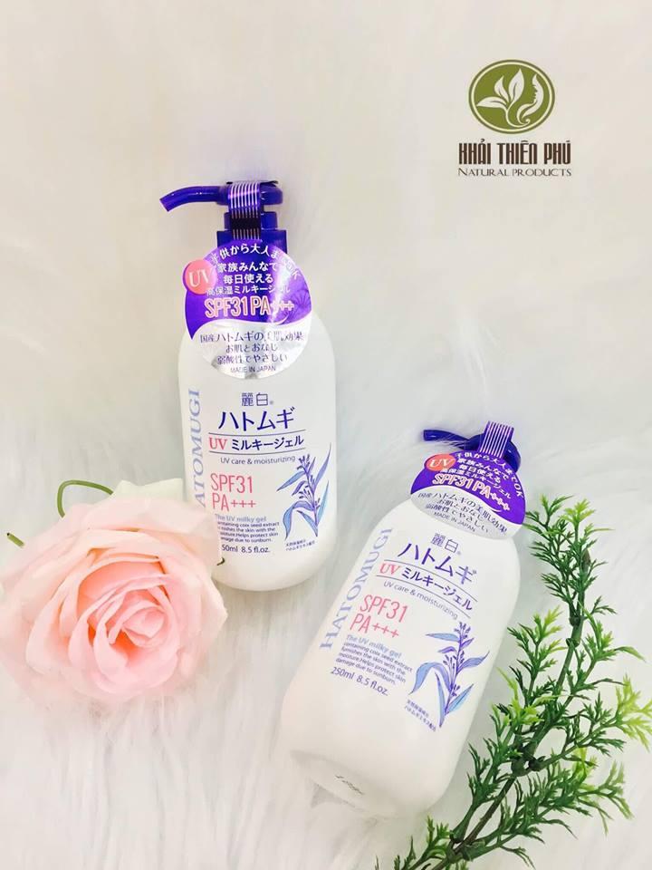 Sữa Dưỡng Thể Chống Nắng Hatomugi SPF31 PA+++
