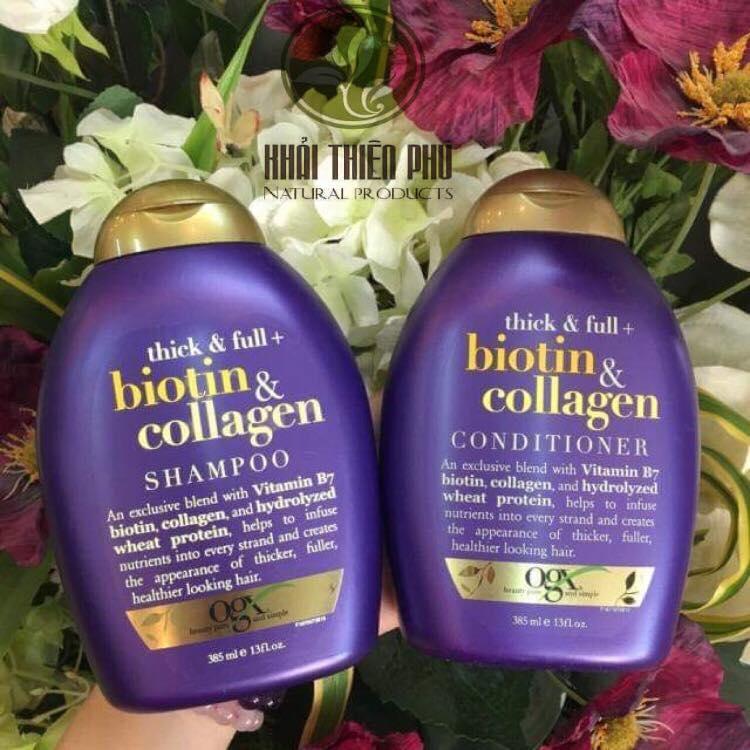 Cặp Dầu Gội Xả Biotin & Collagen OGX – Mỹ