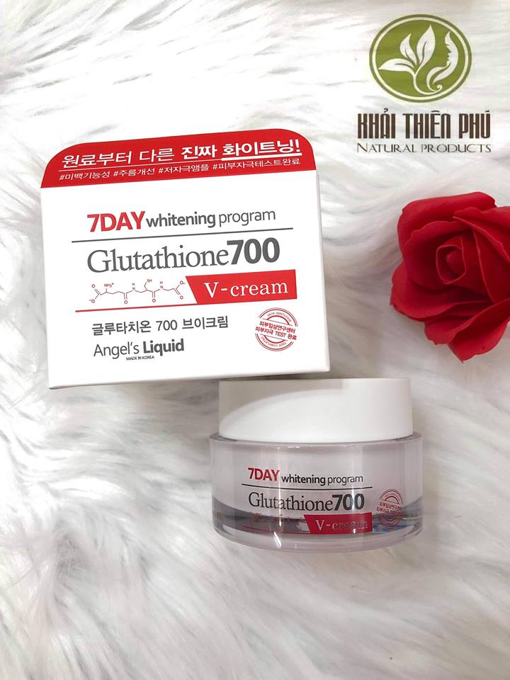 Kem Trắng da 7 Day Whitening Program Glutathione 700 V-Cream
