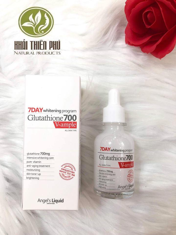 Serum trắng da 7day whitening program glutathione 700 V-ample