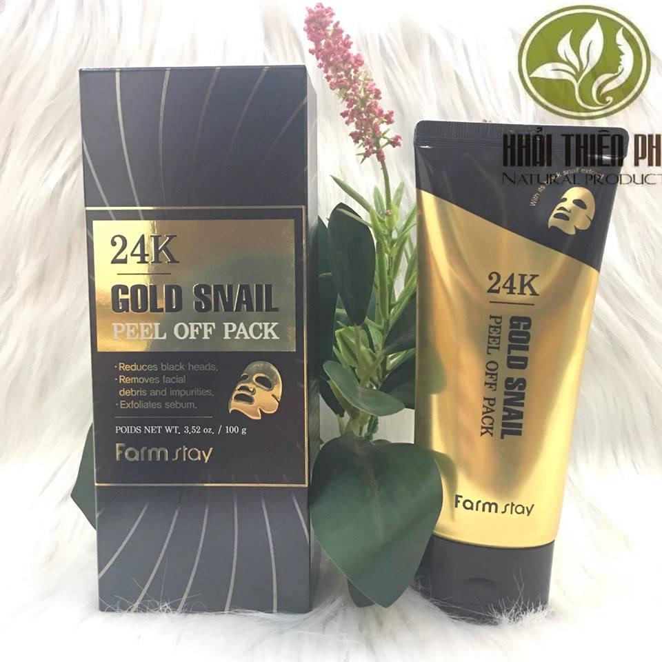 Mặt Nạ Vàng 24K Gold Snail Peel Off Pack