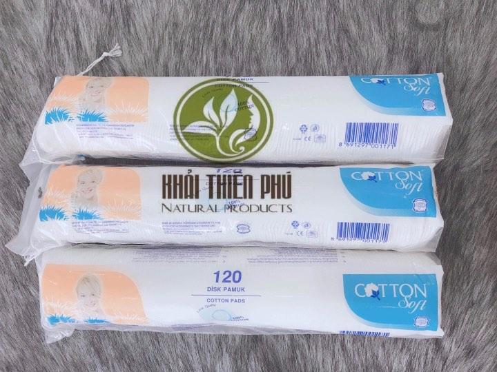 Bông Tẩy Trang Cotton Soft 120 Miếng