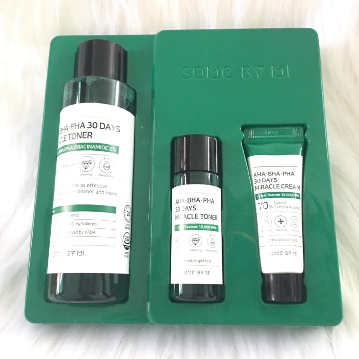 Set 3 Món Trị Mụn Some By Mi AHA – BHA – PHA 30 Days Miracle