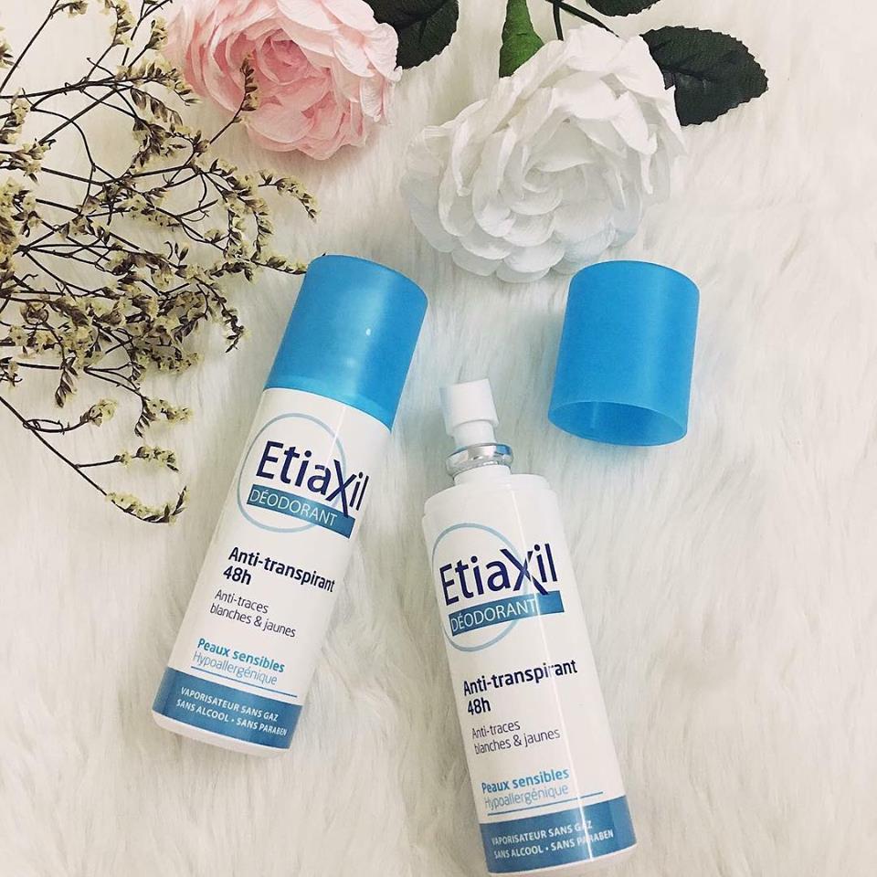Xịt khử mùi hôi chân Etiaxil Deodorant Anti-transpirant 48H