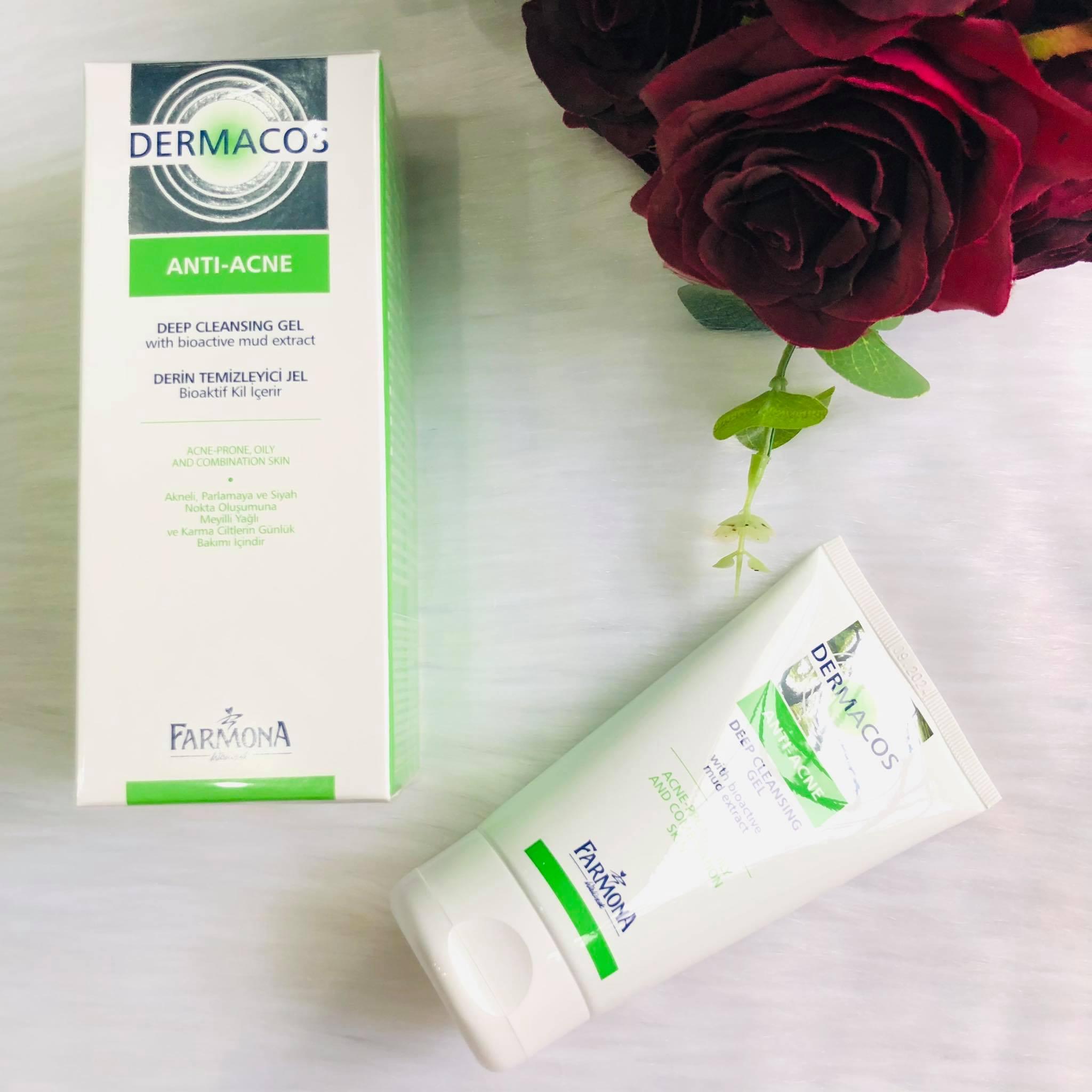 Gel Rửa Sạch Sâu, Ngừa Mụn Dermacos Anti-Acne 150Ml